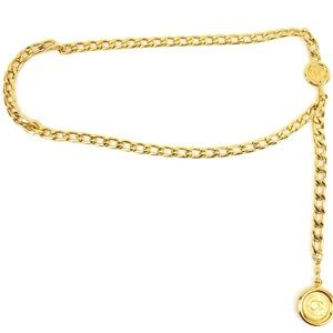 CHANEL: Gold Chain CC Medallion Belt/Necklace (my)